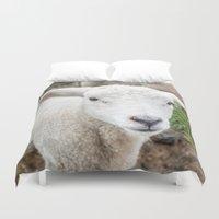 lamb Duvet Covers featuring lamb by Marcel Derweduwen