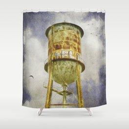 Hampton Station water tower Shower Curtain