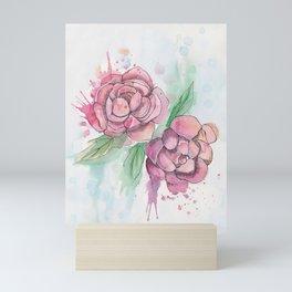 Peony Splatter Mini Art Print