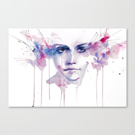 ragazza falena Canvas Print