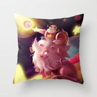 steven universe Throw Pillows featuring Steven Universe  by shermstan