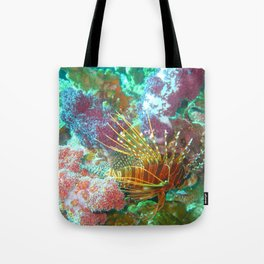 Lionfish and Corral Tote Bag