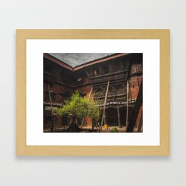 Architecture of Kathmandu City 001 Framed Art Print