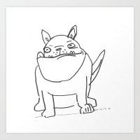 A Big Dog  Art Print