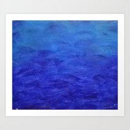 The Clear Blue Sea Art Print