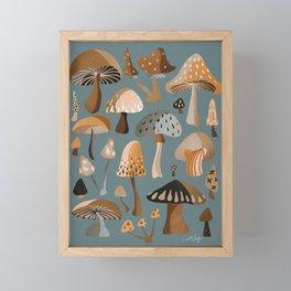 Mushroom Collection – Neutral Palette Framed Mini Art Print