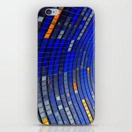 Big Blue Blocks iPhone Skin