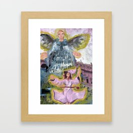 angel and witch Framed Art Print
