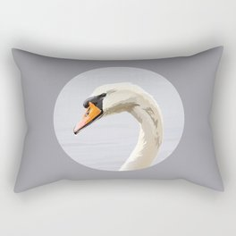 Elegance: Swan Rectangular Pillow