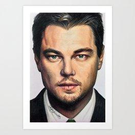 Drawing Leonardo DiCaprio Art Print