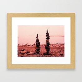 Bar Harbor Cairn (2) Framed Art Print