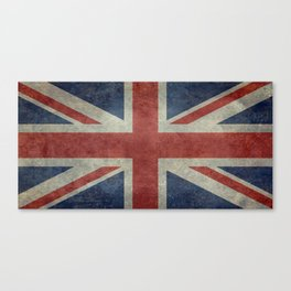 UK Flag, Dark grunge 1:2 scale Canvas Print