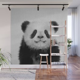 Panda Bear - Black & White Wall Mural