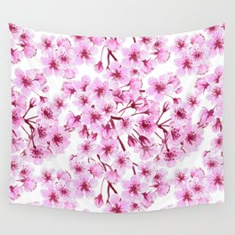 Cherry blossom pattern Wall Tapestry