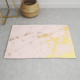 Blush gold marble Rug
