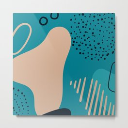 Abstract organic forms for decoration porposes. Metal Print