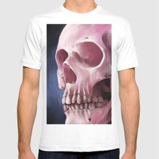 Skull 7 Mens Fitted Tee MEDIUM White