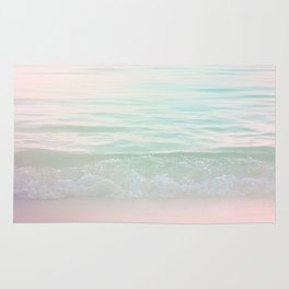 Dreamy Pastel Seascape #buyart #pastelvibes #Society6 Rug