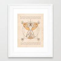 aang Framed Art Prints featuring Vitruvian Aang by Fanboy30
