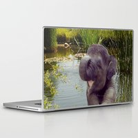 baby elephant Laptop & iPad Skins featuring Baby Elephant by Erika Kaisersot