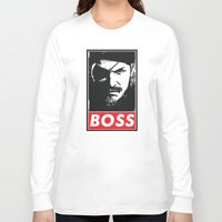 metal gear solid Long Sleeve T-shirts featuring Big Boss - Metal Gear Solid by TxzDesign