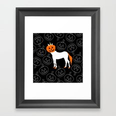 Jack O Unicorn Framed Art Print