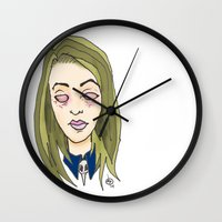 coven Wall Clocks featuring Blinded For The Coven by Dan Paul Roberts