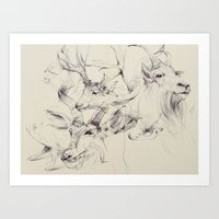 antlers Art Prints featuring Antlers by Brian Jarrell