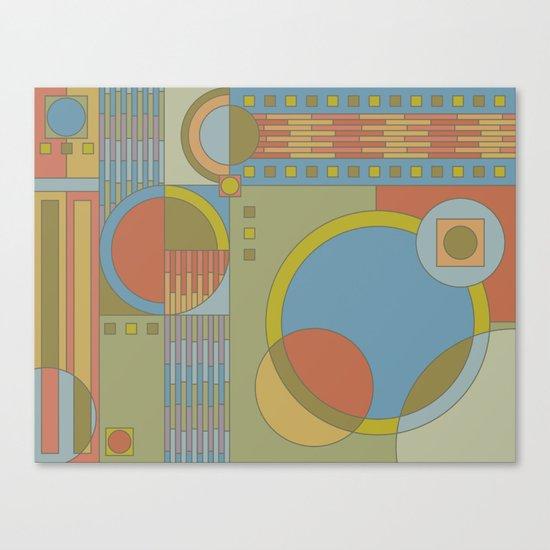 art and crafts circles Canvas Print