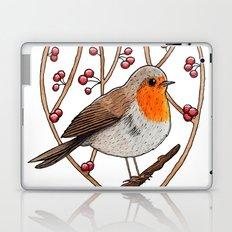 Christmas winter robin Laptop & iPad Skin