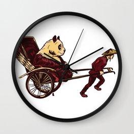 Pampered Panda Wall Clock