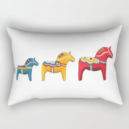 Dala horses Rectangular Pillow
