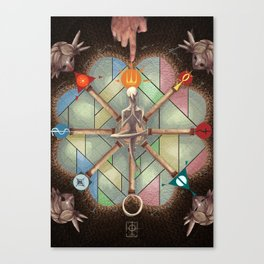 The Wheel of Fortune Canvas Print