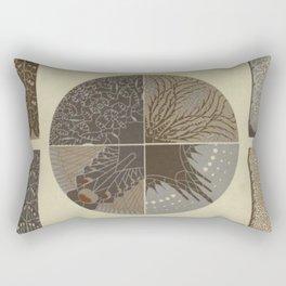 Art Nouveau Design Rectangular Pillow