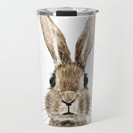 cute innocent rabbit Travel Mug