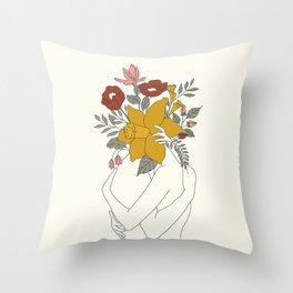 Colorful Blossom Hug Throw Pillow