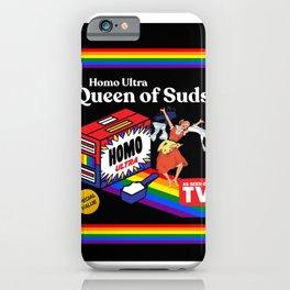 LGBT gay pride homo vintage retro rainbow  iPhone Case