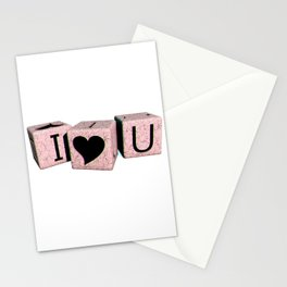 Anaglyph - i love you Stationery Cards