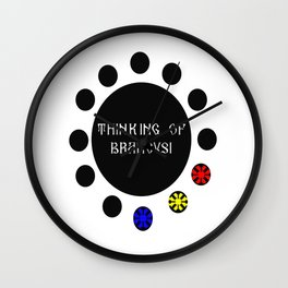 Thinking of Brancusi Table of Silence Inspired by Brancusi  Wall Clock