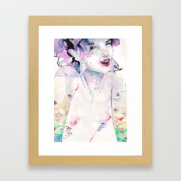 Cherry Pie says Hi Framed Art Print