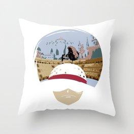 Luffy VS Doflamingo Throw Pillow