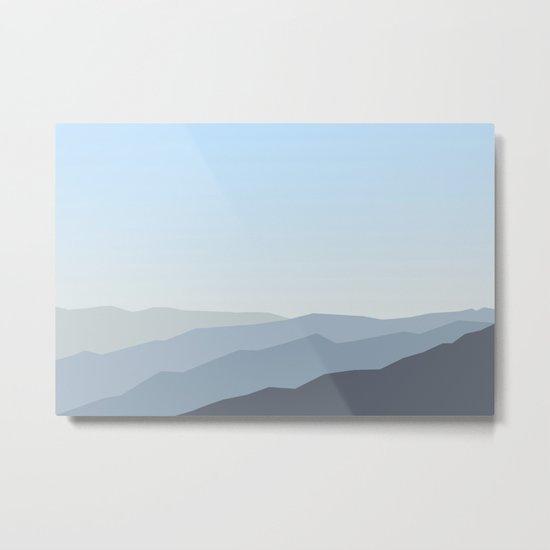 Blue Landscape Metal Print