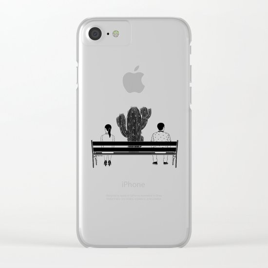 Loud Silence Between Us Clear iPhone Case
