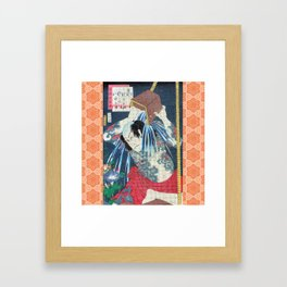 Japanese Kunisada Tattoo Warrior Print Framed Art Print