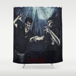 Halloween Nightmare Poster  Shower Curtain