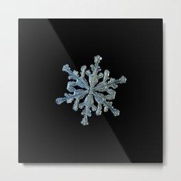 Real snowflake macro photo - 13.02.17 2 black Metal Print