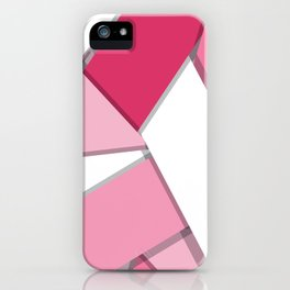 Flat Abstract Modern Design Vector Pattern breast cancer awareness  iPhone Case