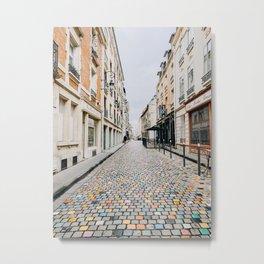 champagne streets Metal Print