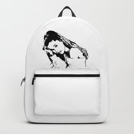 PORTRAIT 0F AN AMERICAN FEMALE POP STAR,ACTRESS AND SONGWRITER Backpack