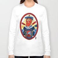 sailor Long Sleeve T-shirts featuring Sailor by Ricardo Cavolo